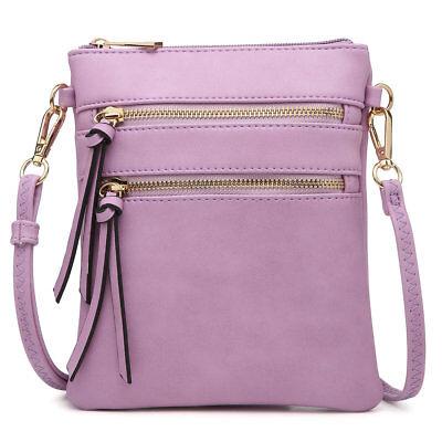 Leather Mini Messenger Bag - Dasein Women Handbags Faux Leather Crossbody Bag Messenger Bag Mini Purse