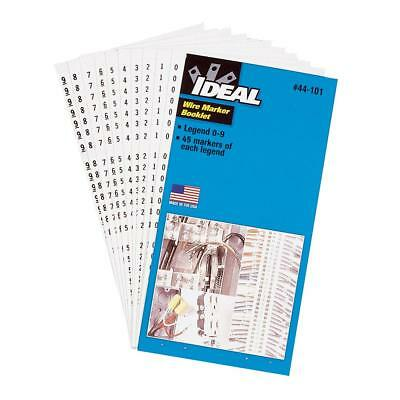 Ideal 44-103 Wire Marker Booklets Legend 1-45 10 Each