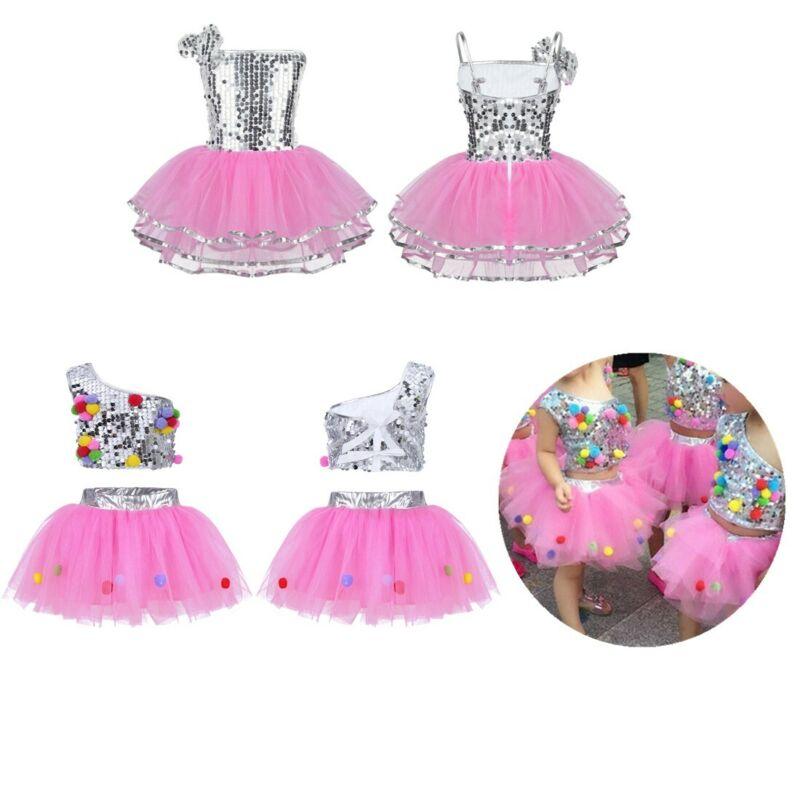 582343d20ab1 Girls Modern Latin Jazz Dance Dress Kids Sparkly Sequins Mesh Tutu Skirt  CostumeUSD 5.65 · Kid Girls Sequins Leotard Dress Ballet Lyrical ...