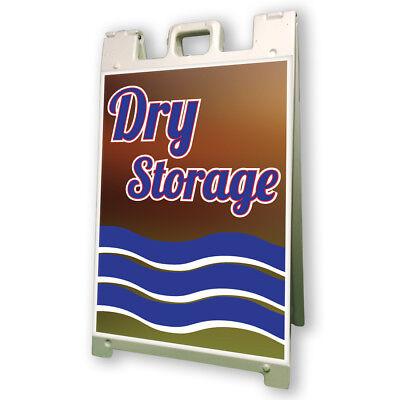 "Dry Boat Storage Sidewalk A Frame 24""x36"" Outdoor Vinyl Retail Sign"