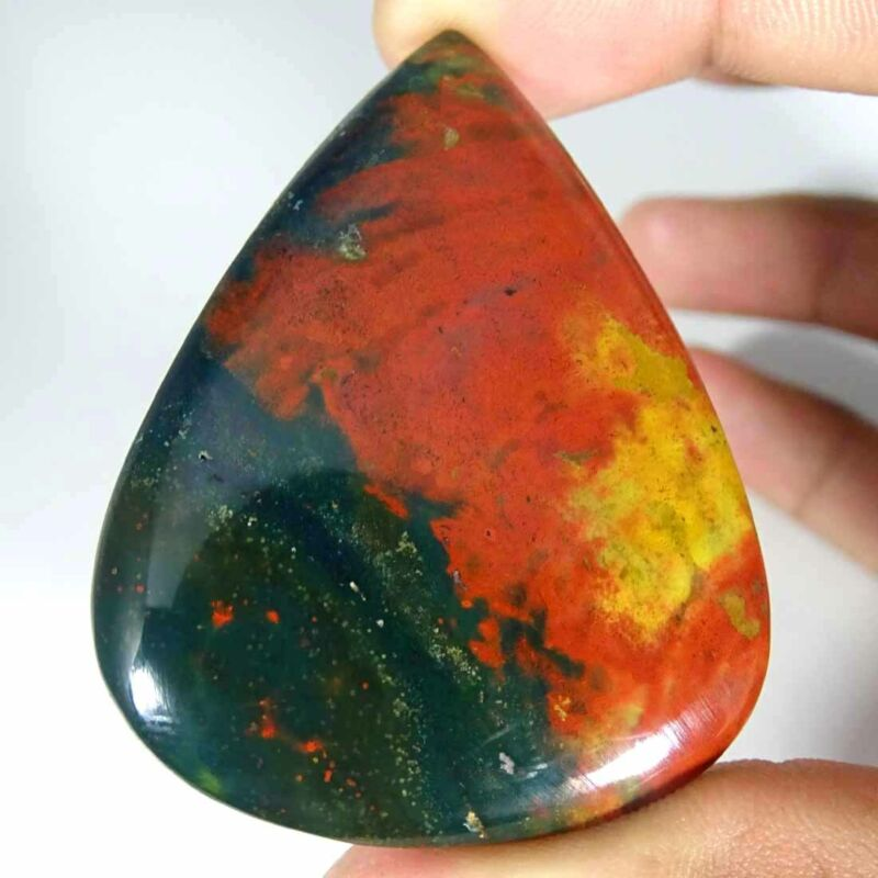 100% Natural Bloodstone Pear Shape Cabochon Loose Gemstone 110.20Cts