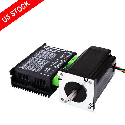 1 Axis Nema 24 Stepper Cnc Kit 4.0nm566oz.in Motor Driver Cnc Router Kits