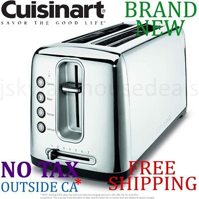 New Cuisinart The Bakery BREAD TOASTER Dual Extra Long Slot