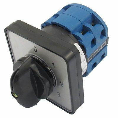 660v 20a 6 Terminals 4 Positions Rotary Cam Changeover Switch S Dt