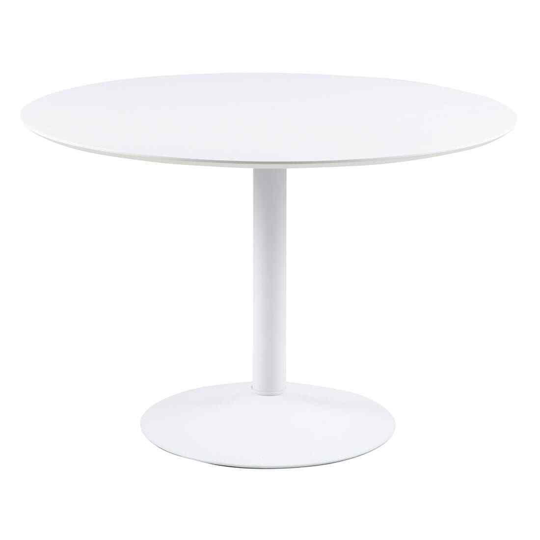 Esstisch Rund Weiß Ibiza Ø110cm Esszimmer Tisch MDF 77