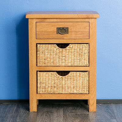 Surrey Oak Hall Table with Storage Baskets / Solid Wood Console / Side Table  for sale  Shipping to Ireland
