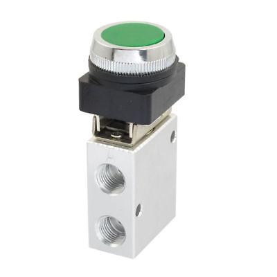 Jm-322pp 13mm Thread 32 Way Green Flat Push Button Pneumatic Mechanical Valve