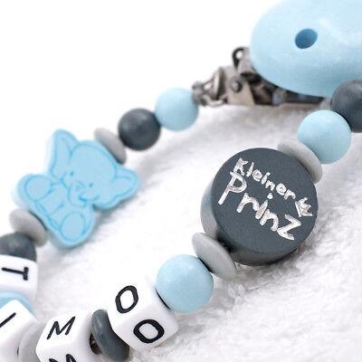 amen Junge kleiner Prinz & Elefant blau grau Geschenk Baby (Blaues Baby-elefant)