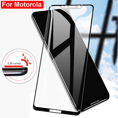 9D Full Glue Tempered Glass Film Protector for Motorola Moto G6 E5 E4Plus Screen
