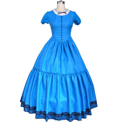 Deluxe Tim Burton Alice In Wonderland Cosplay Fancy Dress Party Prom Ball Gown - Alice In Wonderland Tim Burton Dress