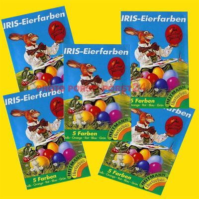5 x Iris Ostereier Farben, Eierfarben, Tabletten, Ostern, Osterbrauch
