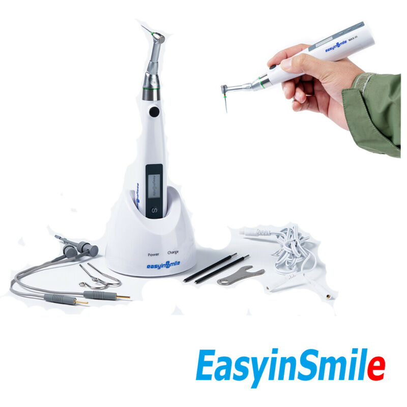 Easyinsmile Cordless Dental LED Root Canal Apex Locator Presetted All Endo Files