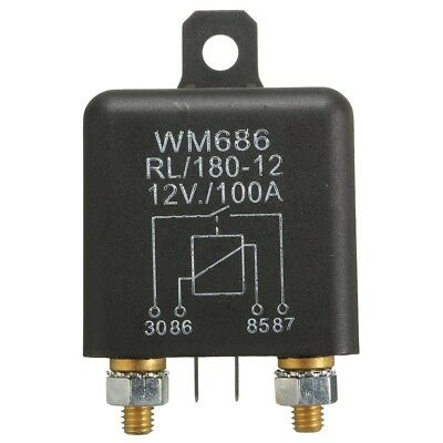 12v 100amp 4-pin Heavy Duty Onoff Switch Split Charge Relay For Auto Boatdt