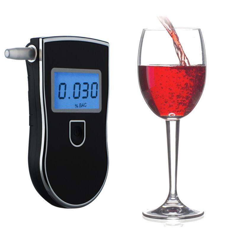 Profession Police Digital Breath Alcohol Tester Breathalyzer+10pcs mouthpieces
