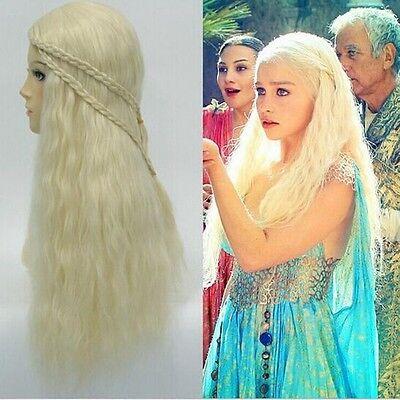 Game Of Thrones Daenerys Wig Targaryen Khaleesi Braids Costume Cosplay Fancy