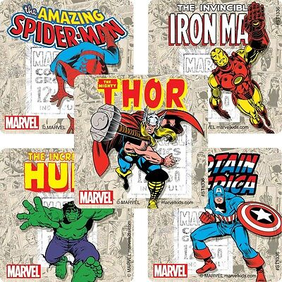 Avengers Party Ideas (Avengers Stickers x 5 - Birthday Party - Favours - Loot Ideas - Marvel)