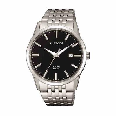 Citizen Men's Quartz Date Calendar Black Dial Silver-Tone 39mm Watch BI5000-87E