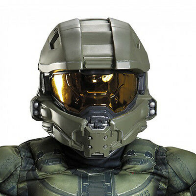HALO Master Chief Child Kids Full Deluxe Costume Helmet | Disguise 89995 - Halo Costume Helmet