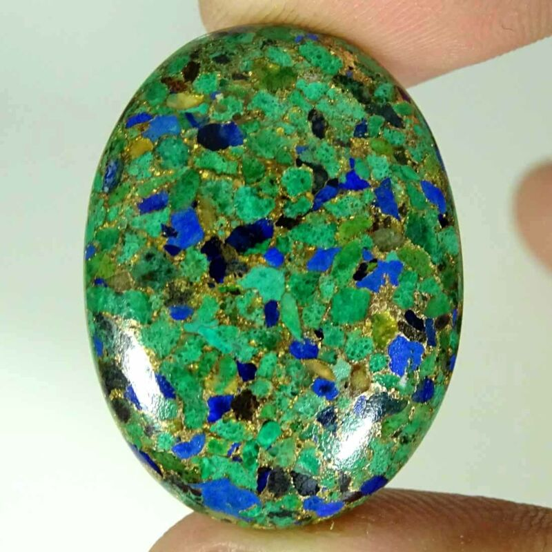 42.10Cts Natural Copper Malachite Lapis Lazuli Oval Cabochon Loose Gemstone