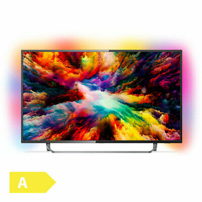 Philips 126cm 50 Zoll 4K Ultra HD LED Fernseher 3fach Ambilight Android TV HDR