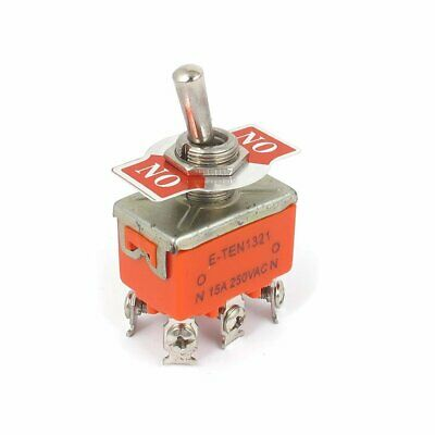 Dpdt Onon 2 Positions 6 Screw Terminal Toggle Switch Ac 250v 15a