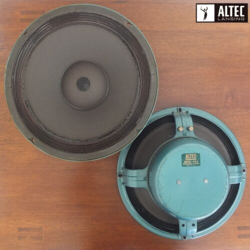 "pair of vintage ALTEC LANSING 414A Alnico magnet 12"" woofers, c.1965—outstanding"