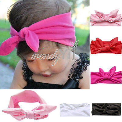 5PCs Kids Girls Baby Headband Toddler Bow Flower Hair Band Accessories Headwear