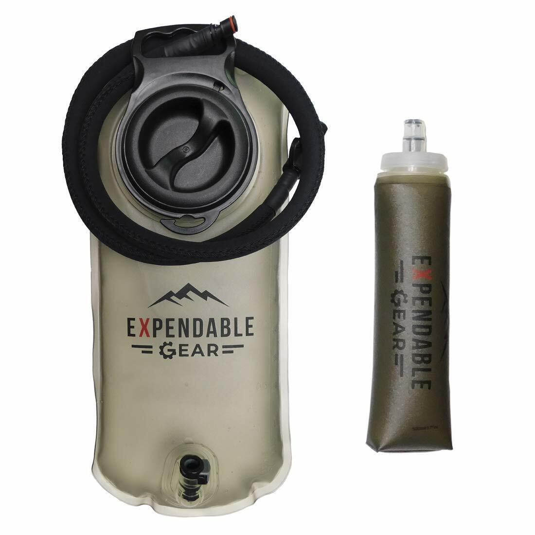 2/3L Hydration Bladder Water Bag Backpack System Survival Pa