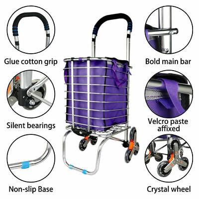 Urban Stair Climbing Cart 6 Wheels Folding Grocery Laundry Shopping Handcart
