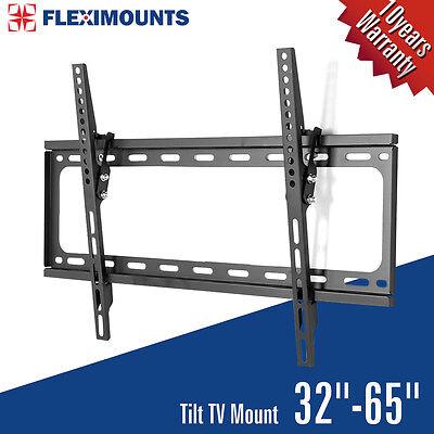 Fleximounts T013 Slim LCD LED PLASMA Flat Tilt TV Wall Mount Bracket 32