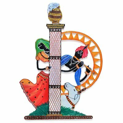 Radha Krishna Handmade Wooden Wall Hanging Item, Abstract Wall Art, Home (Abstract Wooden Wall)