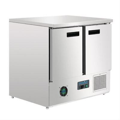 Polar 2 Door Compact Counter Fridge 240 Litre Commercial Kitchen Refrigerator