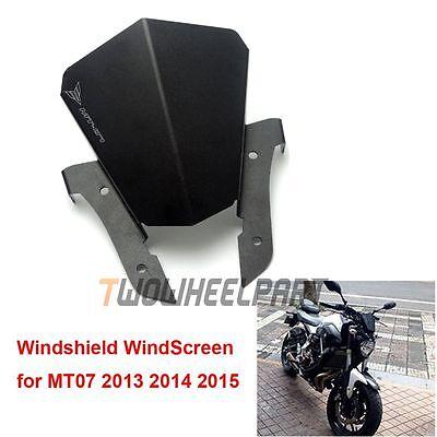 Windshield WindScreen Wind Deflector for Yamaha MT-07 FZ-07 2013-2016 Aluminum