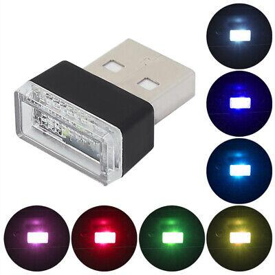 1X Mini USB LED Accessories Car Interior Light Neon Atmosphere Ambient Lamp Bulb