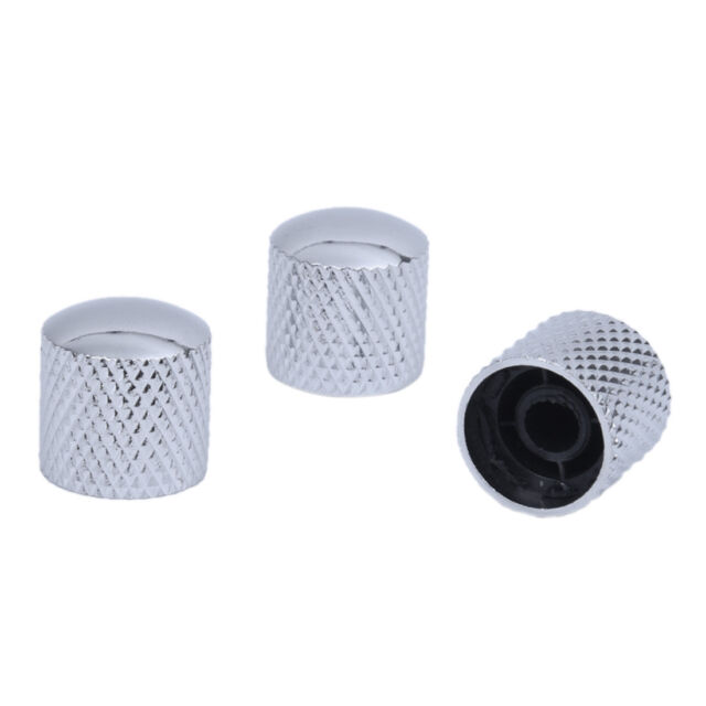 3 PCS Silver Tone Volume Controller for Guitar N5D2