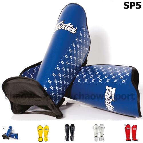 FAIRTEX SP5 COMPETITION SHIN PADS GUARDS MUAY THAI KICK BOXING MMA PROTECTIVE