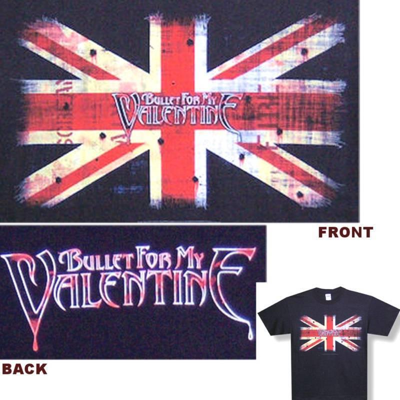 Bullet For My Valentine Uk Flag Black T Shirt XL New
