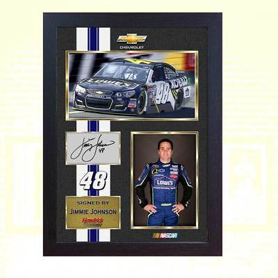 Jimmie Johnson signed autographed photo 13x10 nascar Framed
