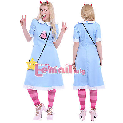 Star vs.the Forces of Evil Princess Star Butterfly Cosplay Costume Dress & (Star Butterfly Kostüme)