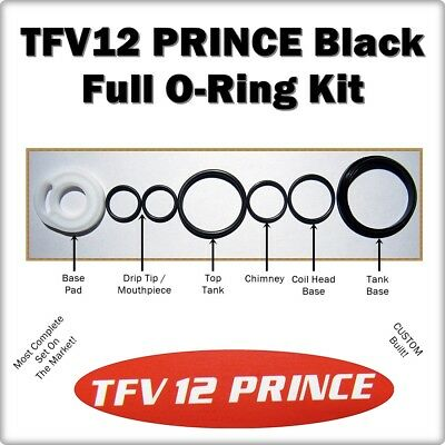 TFV12 PRINCE Full ORing Kit Black Upper/Lower Tank ( ORings smok Gasket Seals )
