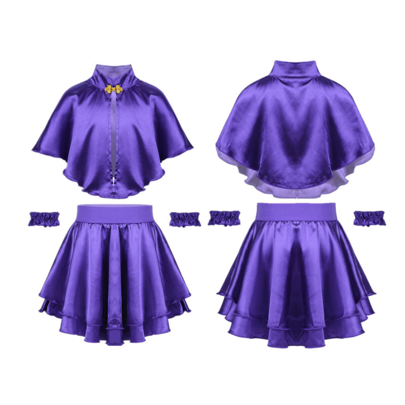 Kid Girl The Greatest Show Fancy Dress Cosplay Party Costume Cape Top+Skirt Set
