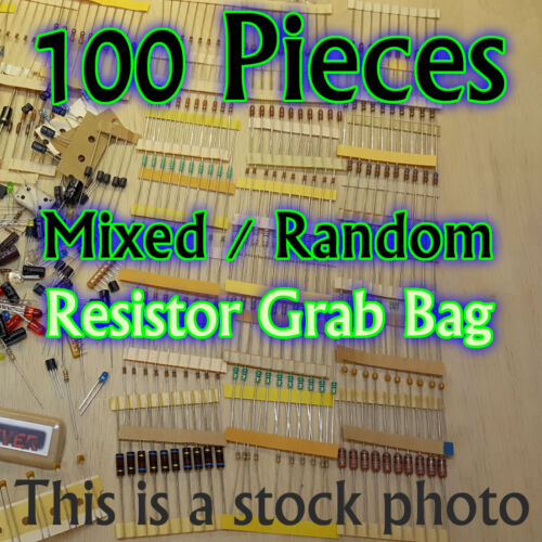 100 Pcs - Resistors - Electrical Component Grab Bag Assortment DIY or Arduino