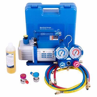 VIVOHOME 1/4HP 3.5CFM Air Vacuum Pump HVAC R134A AC Manifold Gauge Combo Set Kit for sale  Canada