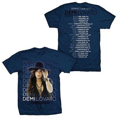 Demi Lovato The Unbroken Summer 2012 Tour Mtv Artist T Shirt Mens Navy L Xl Tee