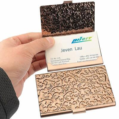 Stainless Business Card Holders Steel Rose Gold Credit Name Case For Men Women
