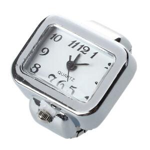 Quartz Watch Ring watch Digit Dial Arabic Rectangle White Unisex Jewelry B6E2