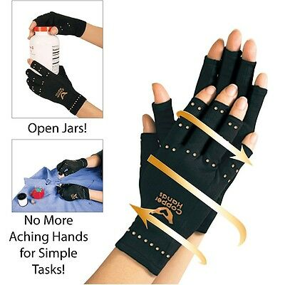 Brace Hand Pain Relief Copper Hands Arthritis Gloves Therapeutic Compression Hot