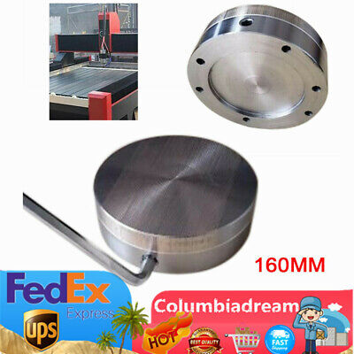 New 160mm 6.29 Inch Round Magnetic Chuck Strong Dense Pole Permanent Chuck