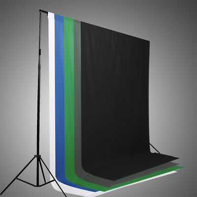 6 x 9ft Screen Muslin Photo Studio Photography Backdrop Background Gray Black