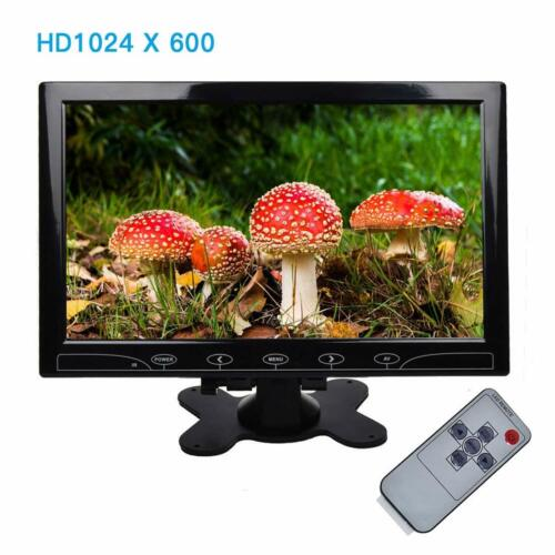 """10"""" Ultrathin Security CCTV Monitor Touch Buttons Video Audi"""